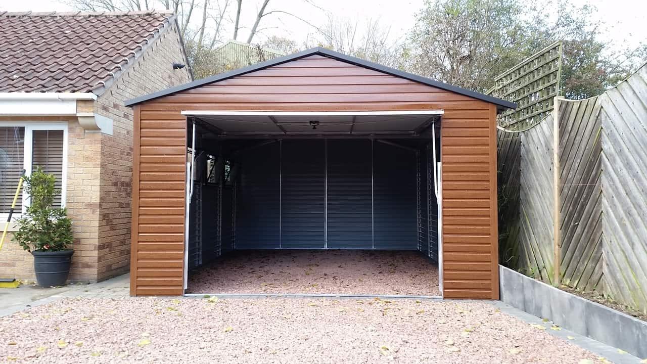 13x18ft Metal Garage Secure Garages Co Uk