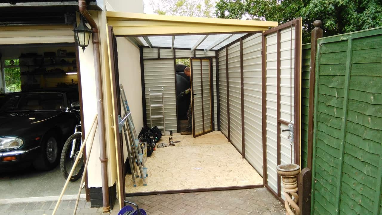 7x13ft Metal Shed With 2x Double Door Secure Garages Co Uk