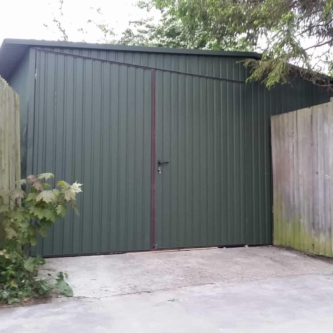 18x18ft heavy duty metal shed secure. Black Bedroom Furniture Sets. Home Design Ideas