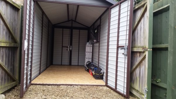 7x13ft Heavy Duty Metal Shed With 2x Double Door Secure Garages Co Uk